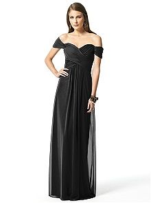 Dessy Collection Style 2844 #black #bridesmaid #dress