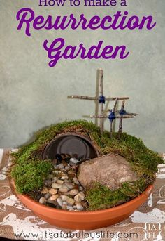 how to make a resurrection garden, crafts, easter decorations, how to, seasonal holiday decor