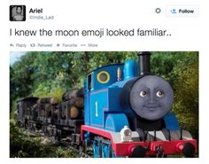 Why does Thomas the Tank Engine look like… | 25 Questions About Emojis That Desperately Need To Be Answered