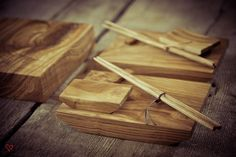 Hand Crafted ash wood sushi set