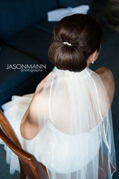 Door County wedding updo with veil. Jason Mann Photography http://www.jmannphoto.com