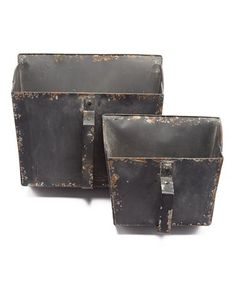 This PD Home and Garden Old Black Pocket Basket - Set of Two by PD Home and Garden is perfect!
