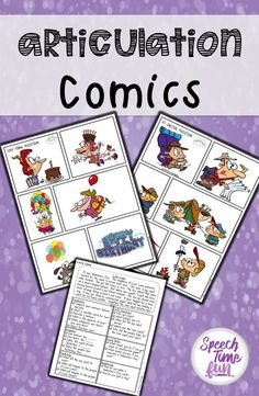 Looking for more ways to work with mixed speech groups? These wordless comics are perfect for mixed groups. They require little to no prep and provides opportunities for tons of products of target articulation sounds! Articulation Therapy, Articulation Activities, Speech Therapy Activities, Speech Language Pathology, Language Activities, Speech And Language, Preschool Activities, Social Skills Activities, Teaching Resources