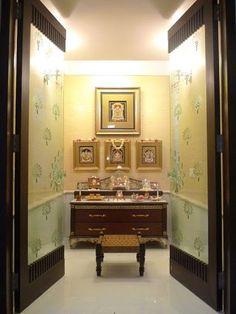Image result for glass door designs for pooja room