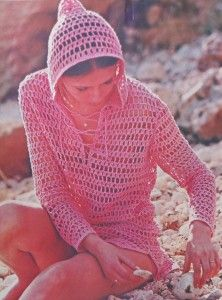 Hooded Beach Cover-Up Crochet Pattern