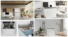 Cocinas Muy Pequeñas House Design, Kitchen, Table, Furniture, Home Decor, Mini Kitchen, Cuisine Design, Compact Kitchen, Hotel Bedrooms