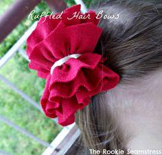 Ruffled Hair Bows