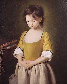 Portrait of a Young Girl, La Penitente c.1750, by Pietro Antonio Rotari