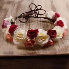 Coroa de flores Lilith off white
