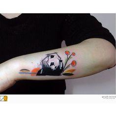 Panda tattoo (c) @birbarbiyologu Istanbul