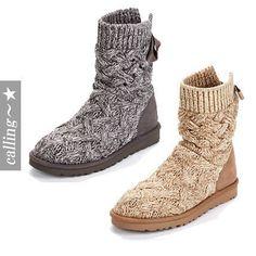 セレブ愛用者多数☆UGG Australia☆Isla Cable Knit Short Boots