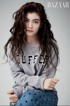 HARPER'S BAZAAR GERMANY IN MY BEST FRIEND'S HOLEY SWEATSHIRT, Lorde