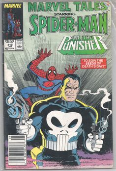 "1987 Marvel TALES SPIDER-MAN #212 PUNISHER : ""Sow Seeds of Death's Day"" Free S/H"