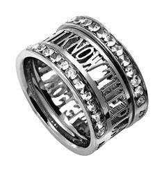Christian Tiara Ring Mini Silhouette, I Know the Plans Jeremiah 29:11