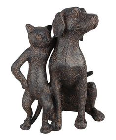 Look at this #zulilyfind! Dog & Cat Buddy Figurine #zulilyfinds