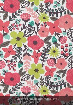 Sarawak fabric from Villa Nova in Tutti-Frutti