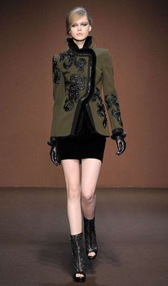 Military Cloak Fashion : andrew gn fall 2010