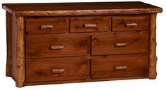 'Timberline' 7 Drawer Log Dresser