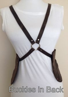 Distressed Leather Harness Holster Belt Necklace Leather Neck Piece Leather Accessory Leather Harness Leather Cell Phone Holster Spring 2013...