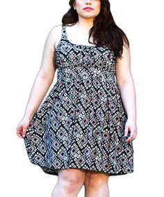 Love this Gray Diamond Mackenzie Empire-Waist Dress - Plus by Sealed With a Kiss Designs on #zulily! #zulilyfinds