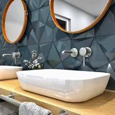 3d Tiles, Decorative Tile, Tile Design, Decoration, Basin, Wall Art Decor, 3 D, Mirror, Interior Design