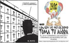 """#19O Manifestación Global """"Contra su Austeridad, Toma tu Ágora"""" 19 de Octubre 2013"""