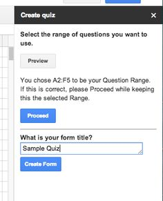 Math Tech Tips: New Script that will create Google Forms from questions in a Spreadsheet