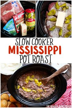 This unique recipe for Mississippi Pot Roast is full of flavor and the most tender roast you will ever try. - The Magical Slow Cooker # pepperocini recipes slow cooker Mississippi Pot Roast Pot Roast Recipes, Slow Cooker Recipes, Cooking Recipes, Recipe For Roast, Skillet Recipes, Cooking Gadgets, Pizza Recipes, Cake Recipes, Dinner Recipes