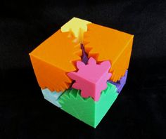 3D printed cube transforms from a clean cube into an explosion of randomness as you twist it #3dPrintedColor