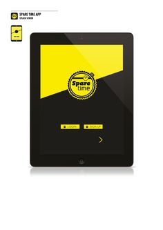 Mobile App | Spare Time by Michele Meggiolan, via Behance