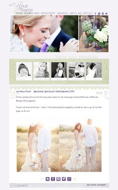 Photography Blog Design - ProPhoto Blog Design - Blog Theme - Web Design