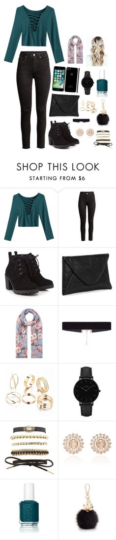 """teal"" by blogging ❤ liked on Polyvore featuring Red Herring, Accessorize, 8 Other Reasons, CLUSE, Charlotte Russe, Nam Cho, Essie and Furla"