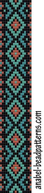 Схема браслета - ткачество - bead loom pattern - bracelet
