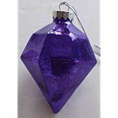 BRAND NEW QUALITY CHRISTMAS ORNAMENT PURPLE DIAMOND LIKE Purple Christmas Ornaments, Purple Diamond, Lavender, Perfume Bottles, Vase, Color, Beauty, Perfume Bottle, Flower Vases