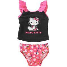 Hello Kitty Baby Toddler Girl Tankini Swimsuit - Walmart.com