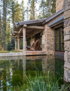 See Inside This Rustic Home Built With Former Homestead Cabins From the Rocky Mountains - Indoor- Outdoor Dining Room Photos