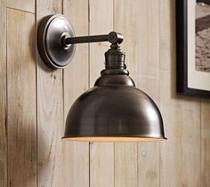 PB Classic Sconce - Metal Bell | Pottery Barn / switch on socket pair for $239