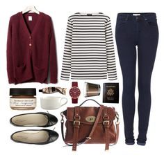 """""""Untitled"""" by hanaglatison ❤ liked on Polyvore featuring Pull&Bear, Saint James, Topshop, Mulberry, Anniel, Farmaesthetics, Crate and Barrel, Aesop, Marc by Marc Jacobs and Passport"""