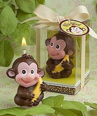 Monkey Candle Favor for baby shower favors.  Go to: http://www.birthday-party-stuff.com/category_19/5/Candle-Favors.htm as low as...$2.08 ea.