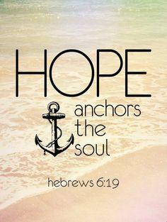 Hebrews 6:19 maybe a small anchor tattoo