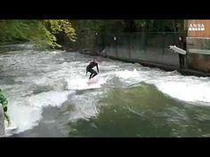 I brividi del surf nel cuore di Monaco di Baviera