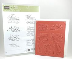 Stampin Up TRUST GOD Clear Mount Stamp Set Religious Christian Catholic Quotes #StampinUp