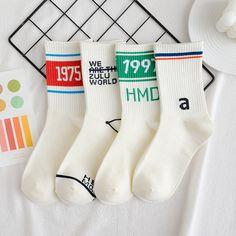 Unisex Women's Men's Socks Hip Hop Street Sport Socks 1 Pair Number English Letter Socks Cotton Simple Style Fashion Socks Cheap Socks, Sport Socks, Fashion Socks, Cute Outfits For Kids, Knitting Socks, Simple Style, Clothing Items, English Letter, Men's Socks