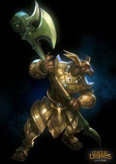 League of legends-Nasus Fan art, Victor Bang on ArtStation at https://www.artstation.com/artwork/league-of-legends-nasus-fan-art