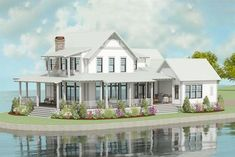 3-Bed Exclusive Farmhouse Plan with Open Concept Layout - 130020LLS thumb - 03