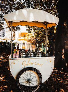 Gelato ○ Italy, just and ice cream cart, not gelato