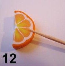 DIY Polymer Clay Orange
