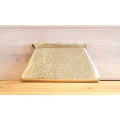 Vintage Gold Lame Clutch, 1950s Purse, 1960s Purse, Vintage Clutch,... ($8) ❤ liked on Polyvore featuring bags, handbags, clutches, handbag purse, man bag, gold evening bag, vintage clutches and vintage handbags purses