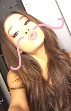 """Ariana) """"I have a mustache!"""" I laugh """"this is why I'm singleeee"""" Ariana Grande Images, Adriana Grande, Ariana Grande Dangerous Woman, Down Hairstyles, Her Hair, Love Her, Hair Cuts, Hair Beauty, Celebs"""