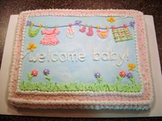 clothesline baby shower cake | cake this is a clothesline cake i made for my sister in law s shower ...